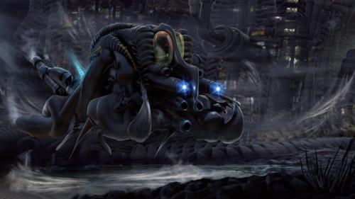 Alien ship by MarkButtonDesign